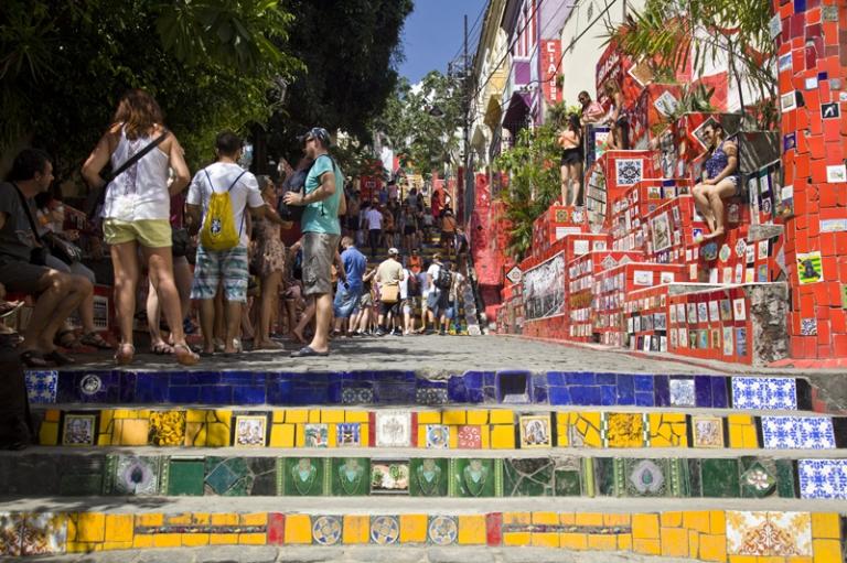 Braslien Rio de Janeiro Zuckerhut Braslien Escadaria Selarón