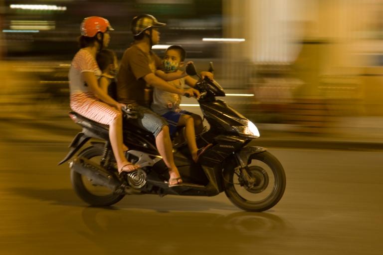Vietnam Hanoi Mopeds