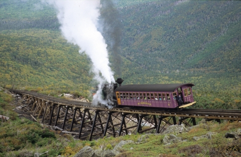 Amerika USA Boston New Hampshire New York Mount Washington Cog Rail