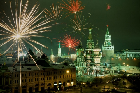 Moscow Kremlin Red Square GUM Metro New Year New Yearseve