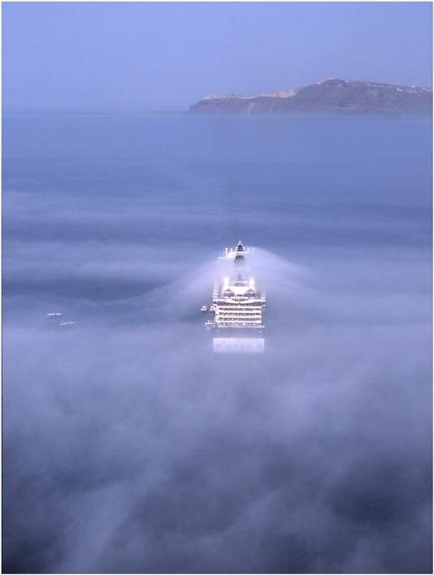 Griechenland Kykladen Insel Santorin Thera Thira Oia Fira Vulkanausbruch