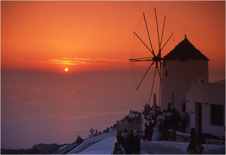 Griechenland Kykladen Insel Santorin Thera Thira Oia Fira Vulkanausbruch photography sunset