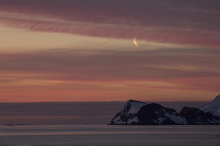 Moonrise - Antarctica Peninsula