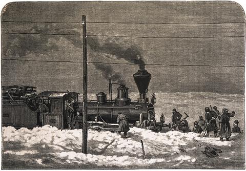 Dampflok-Winter-Transsibirische-Eisenbahn