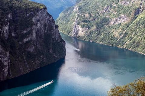 Norwegen Geiranger aerial