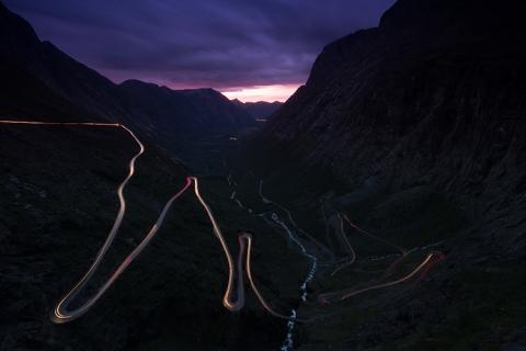 Norwegen Trollstigen Nacht